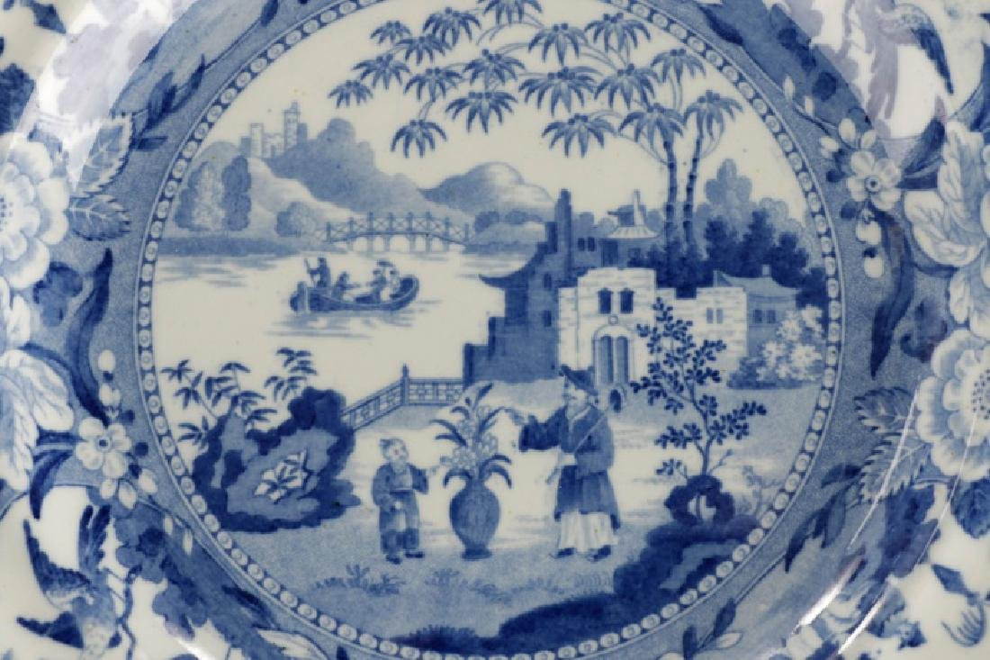 Group of 4 Early Blue & White Earthenware Plates - 4