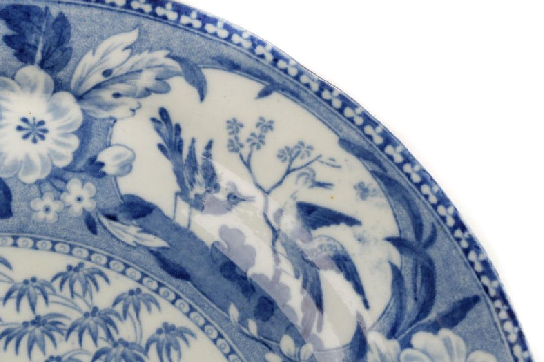 Group of 4 Early Blue & White Earthenware Plates - 5