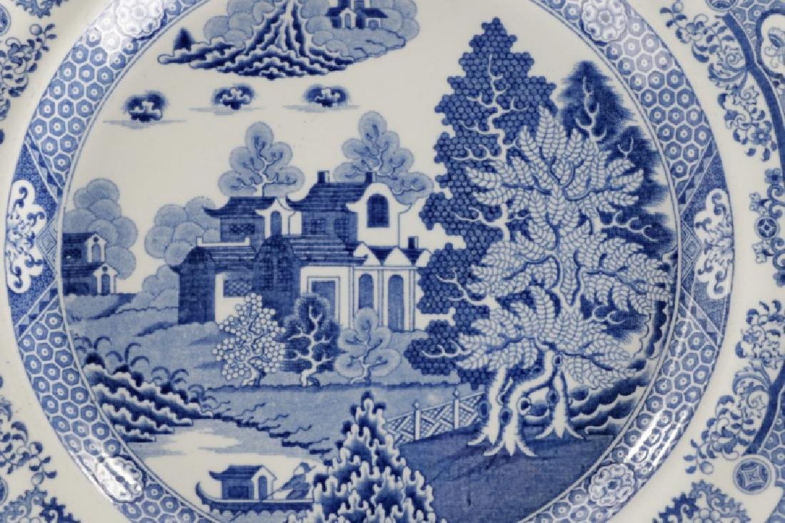 Group of 4 Early Blue & White Earthenware Plates - 6