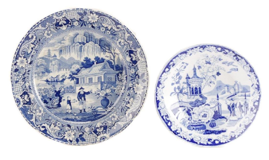 Two Pieces Early Blue and White Transferware