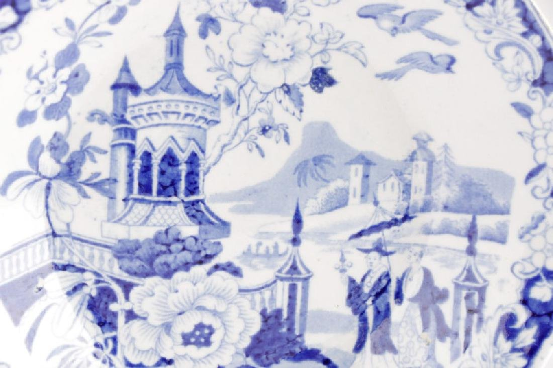 Two Pieces Early Blue and White Transferware - 3
