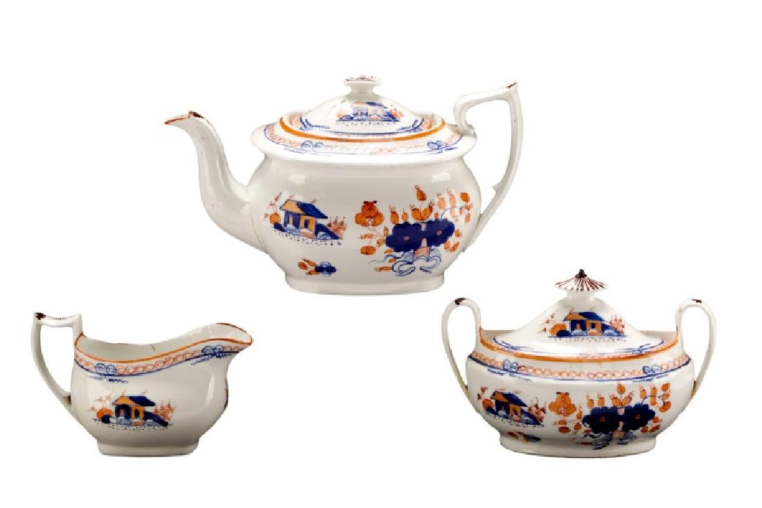 Early Staffordshire 3 Piece Pearlware Tea Set