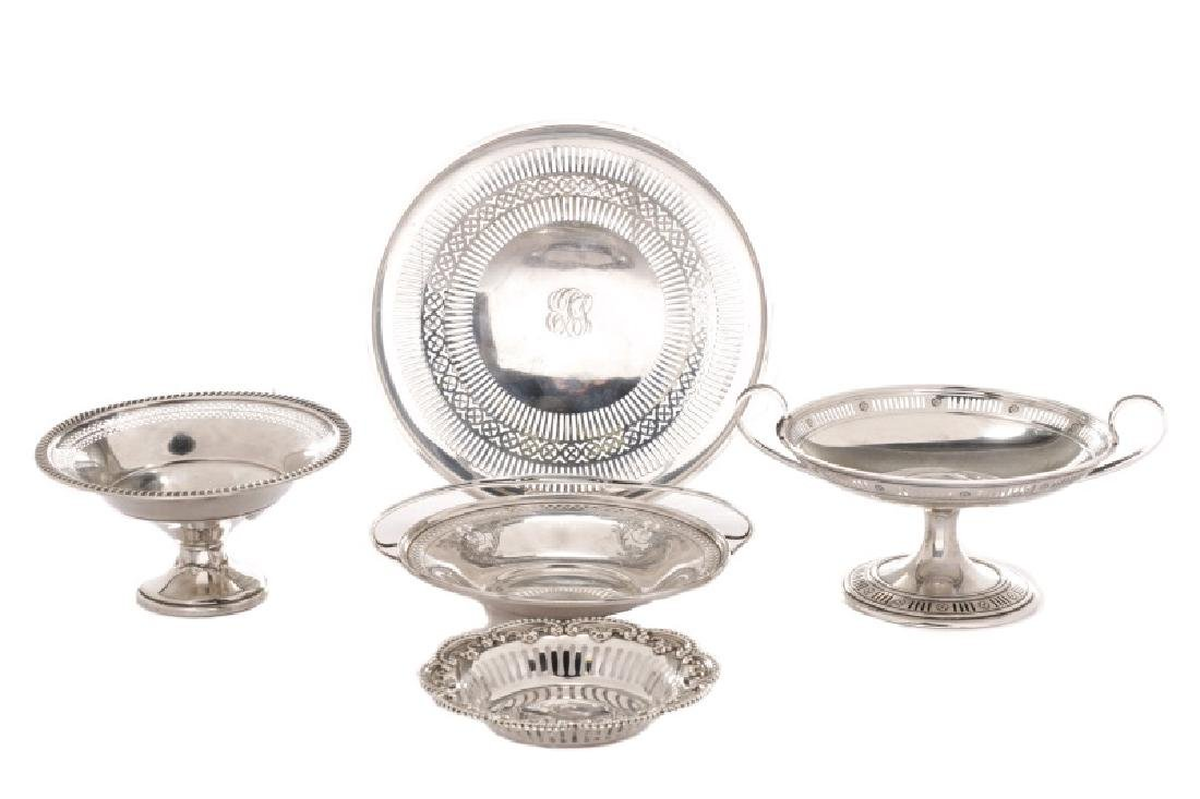 Group of 5 American Sterling Table Accessories