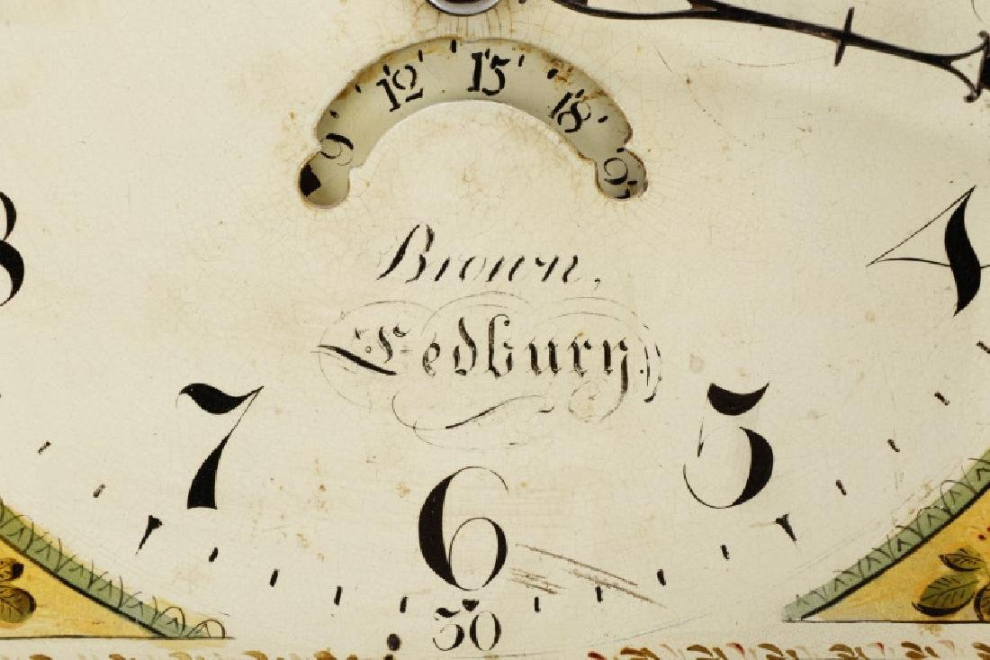 English 30-Hour Tallcase Clock by Brown, Ledbury - 4