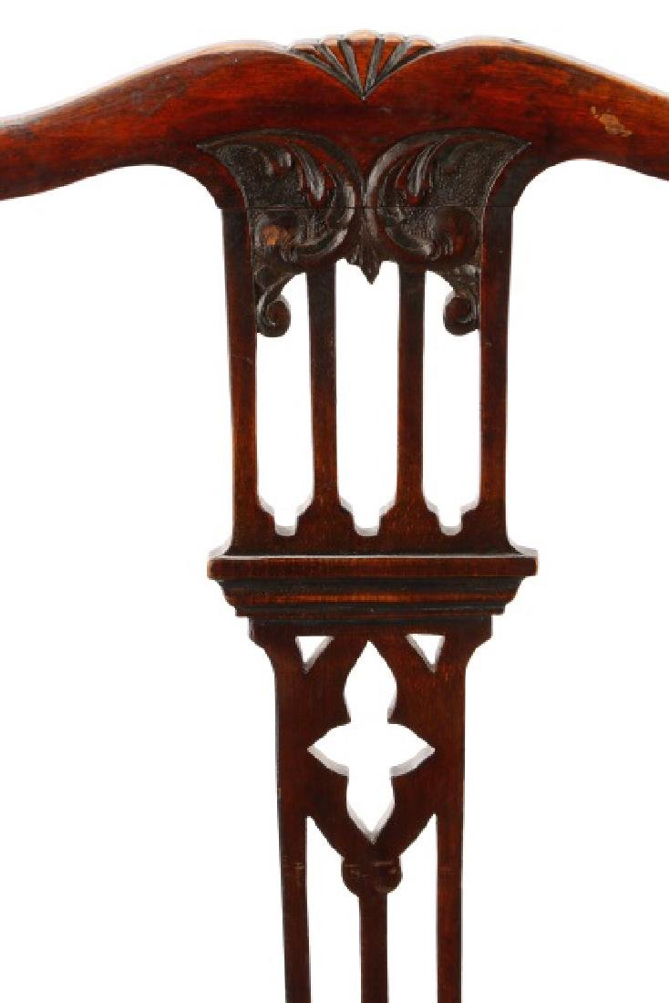 Set, 8 Mahogany Gothic Revival Style Dining Chairs - 2