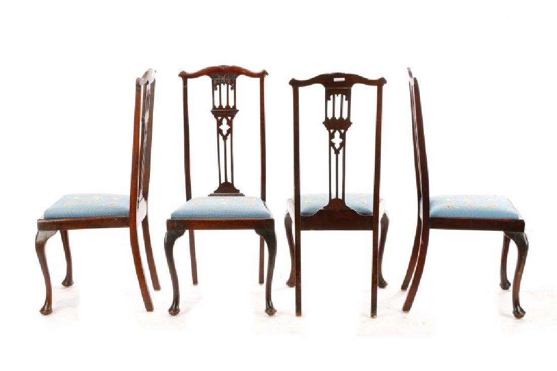 Set, 8 Mahogany Gothic Revival Style Dining Chairs - 6