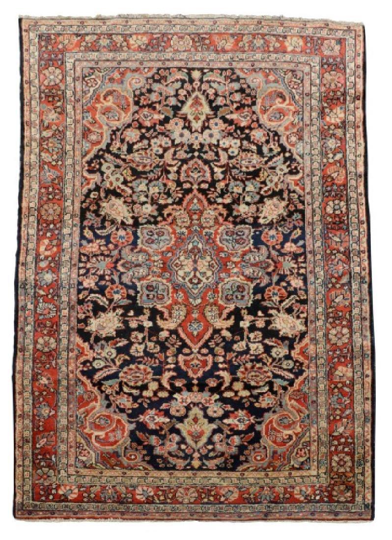"""Hand Woven Persian Malayer Rug, 4' 3"""" x 6' 10"""""""