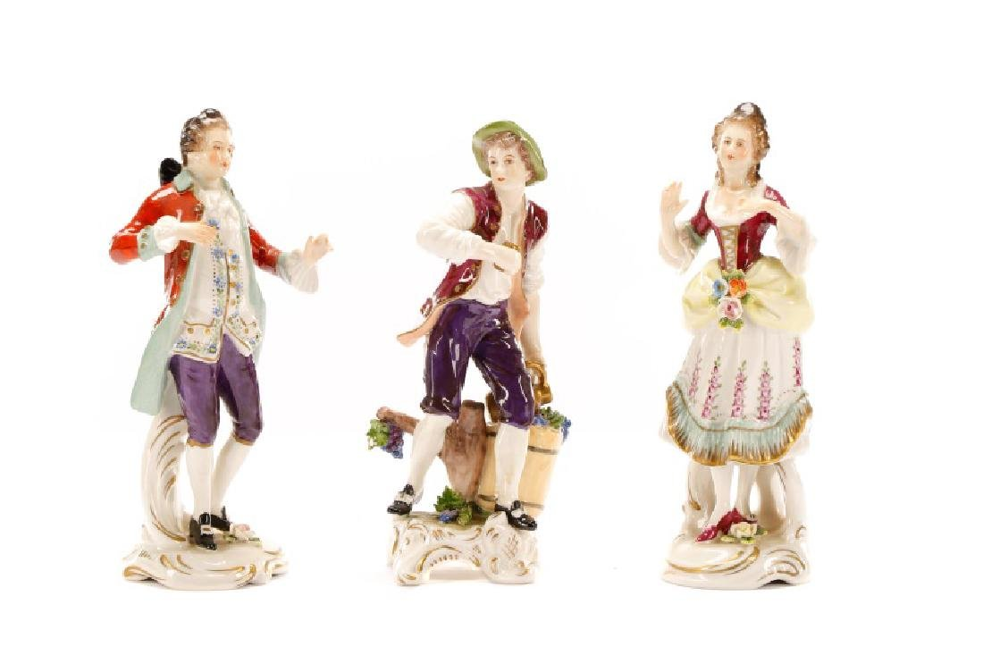 Group of 3 Porcelain Figurines, Rudolf Kammer