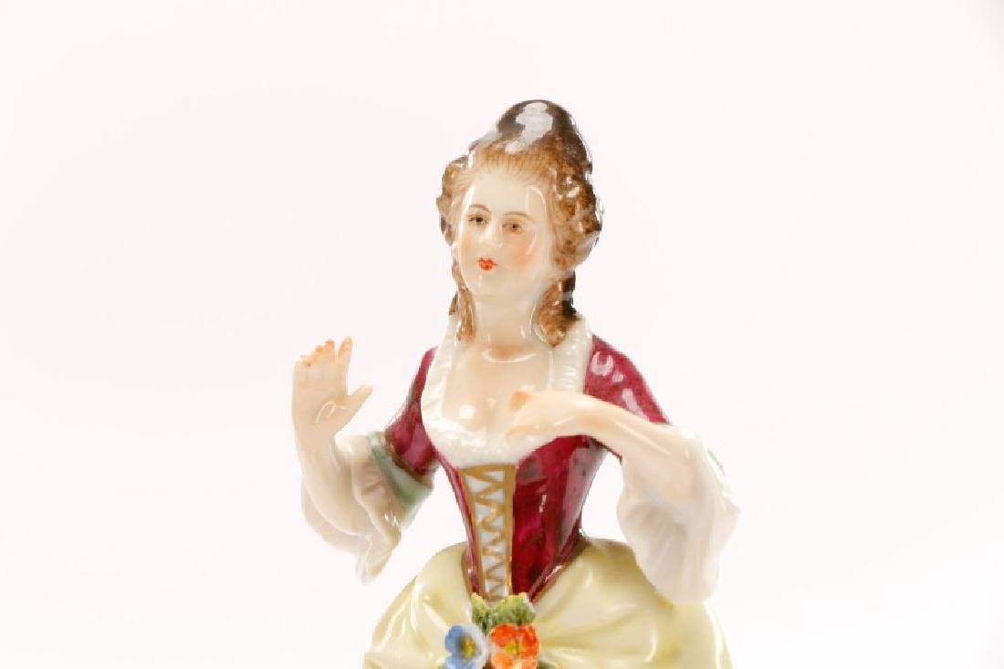 Group of 3 Porcelain Figurines, Rudolf Kammer - 6