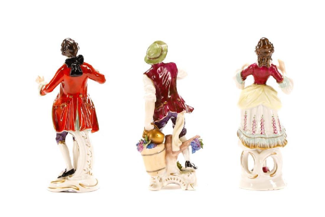 Group of 3 Porcelain Figurines, Rudolf Kammer - 8