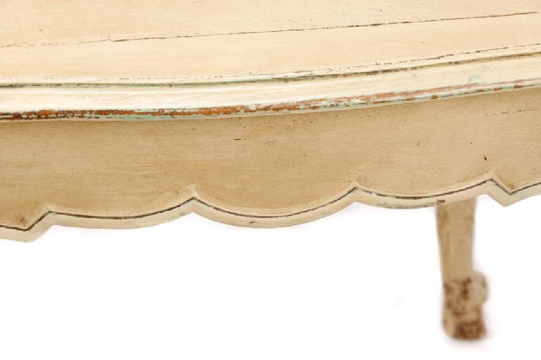 French Provincial Style Polychromed Side Table - 5