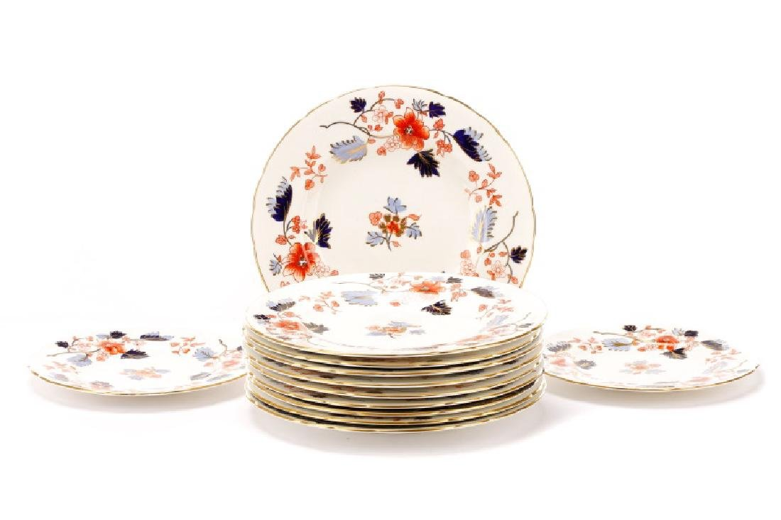 Group, 12 Royal Crown Derby Imari Porcelain Plates