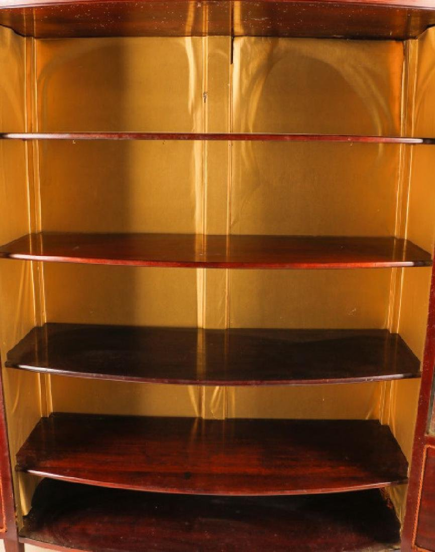 Hahne & Co Inlaid Bowfront Display Cabinet - 9