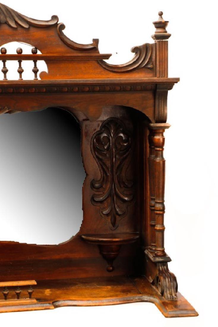 Renaissance Revival Style Sideboard Mirror - 4