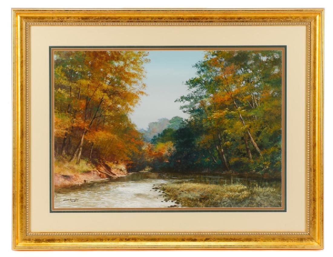 "Wayne Spradley ""Autumnal Landscape"", Watercolor"