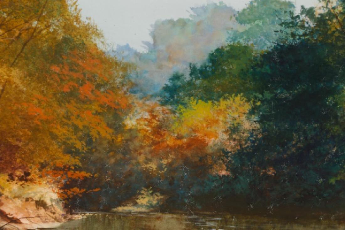 "Wayne Spradley ""Autumnal Landscape"", Watercolor - 5"