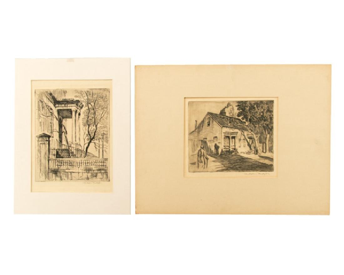 Group of 2 Christopher Murphy Etchings