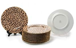 "13 Eschenbach for Tiffany ""Leopard Spot"" Plates"