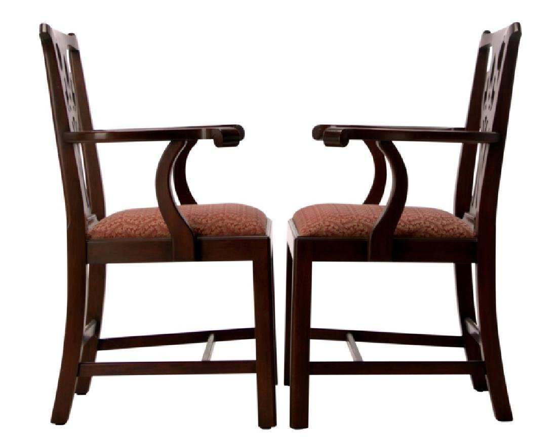 set 10 henkel harris chippendale dining chairs