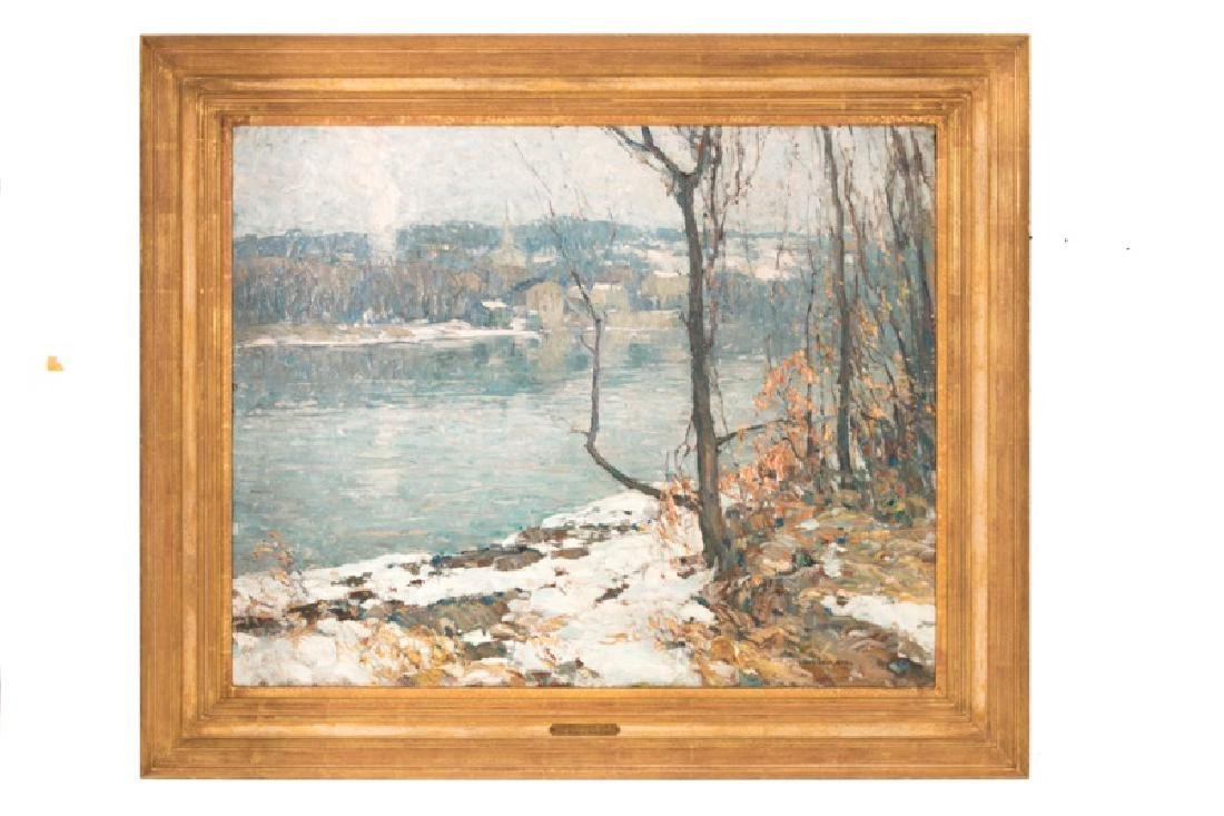 "John F. Folinsbee, ""River at New Hope,"" O/C"