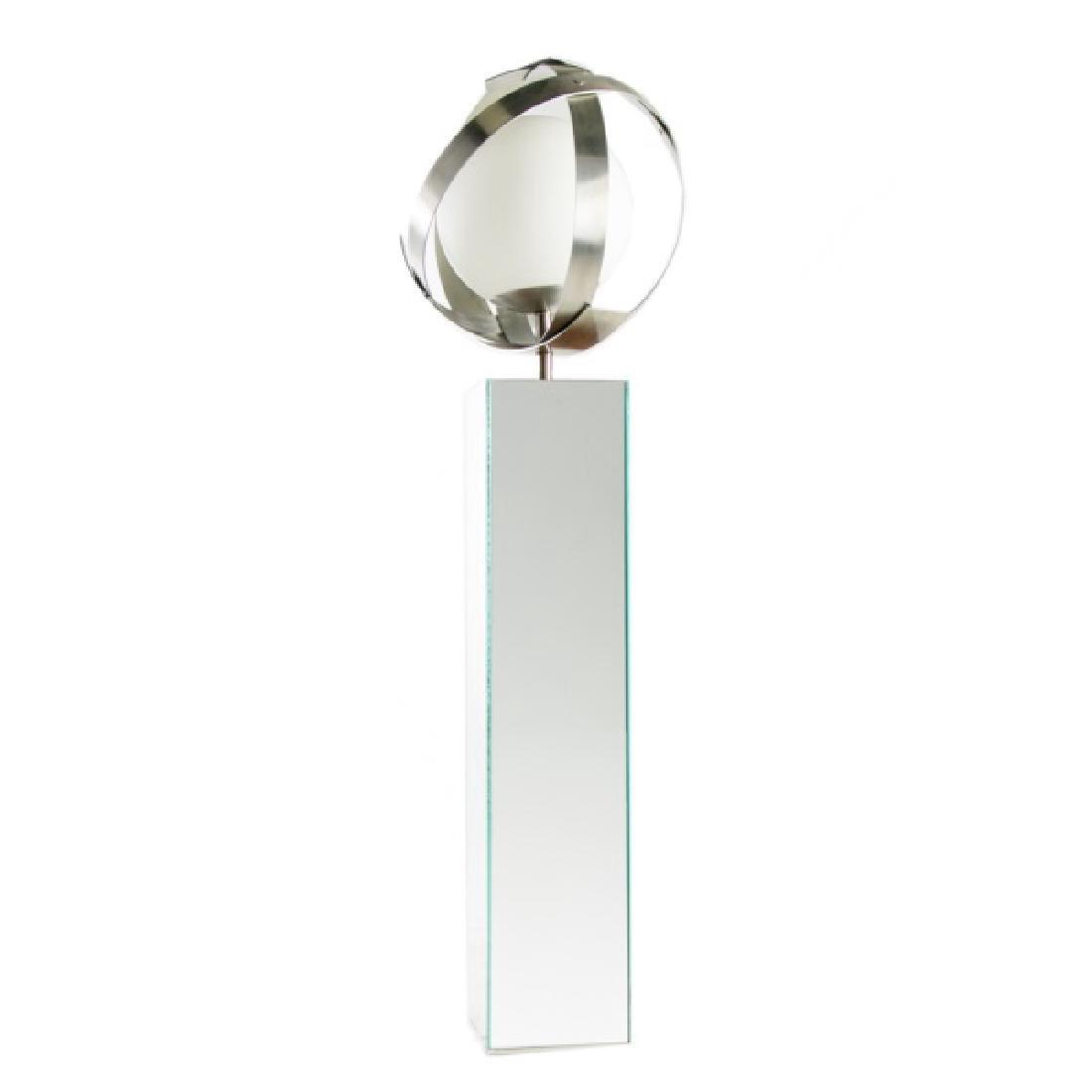 Aluminum Sphere Lamp w/Mirrored Base, Laurel Lamp