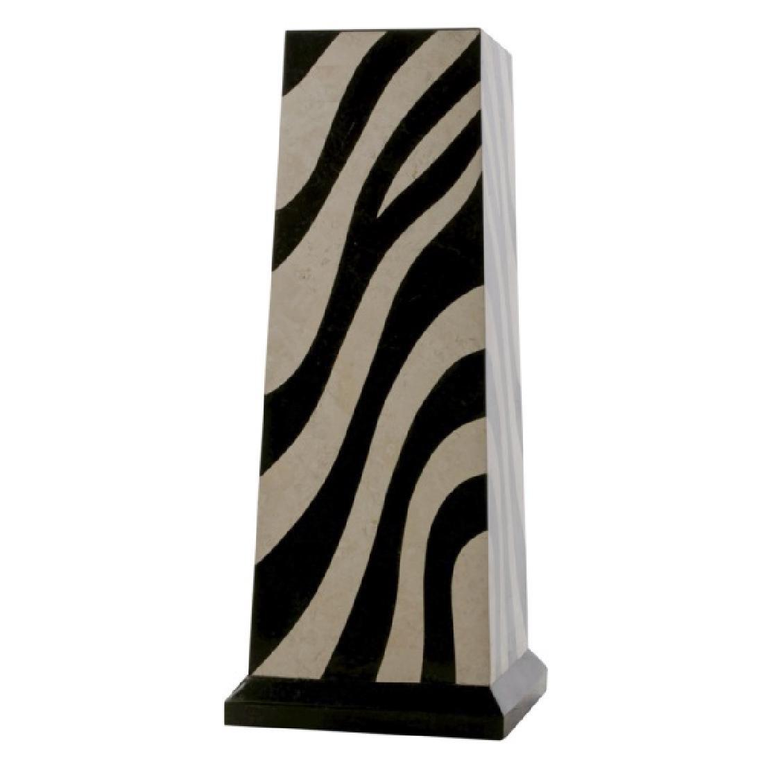 Stone Zebra Motif Pedestal, Maitland-Smith