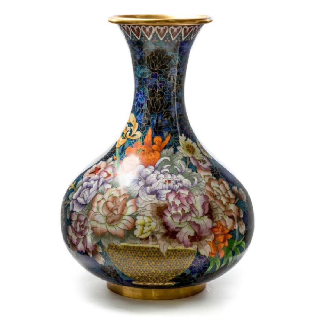 Large Chinese Cloisonne Enameled Vase
