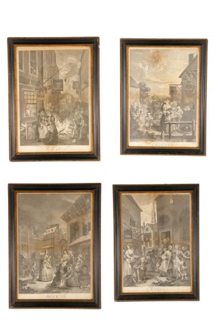 "William Hogarth ""The Four Times of Day"" Engravings"