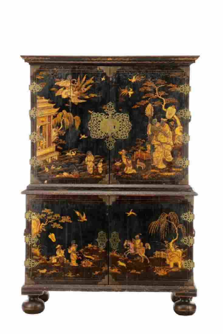 William & Mary Japanned Collector's Cabinet