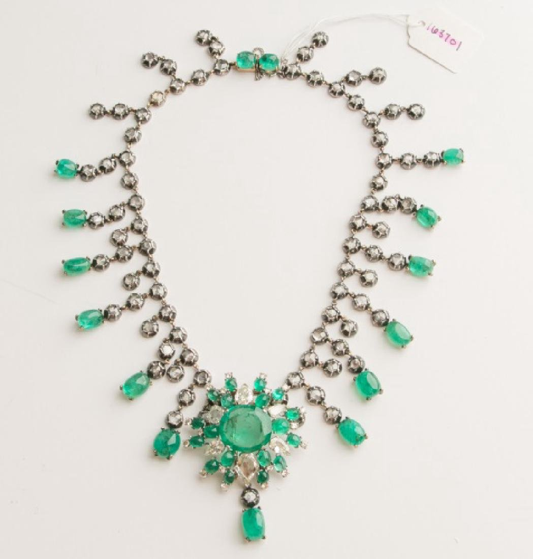 Important 18k Emerald & Diamond Necklace/Pendant