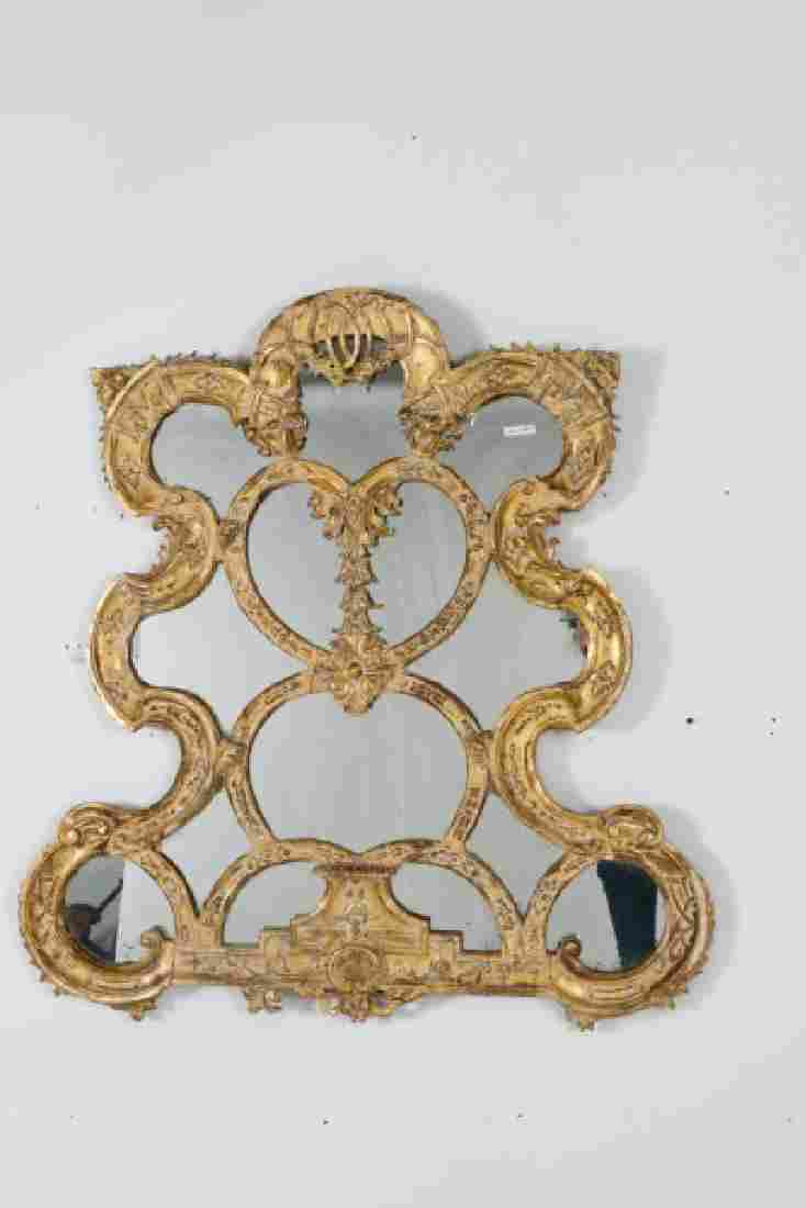 Pair, Large Baroque Style Giltwood Mirrors