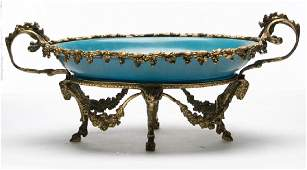 Sevres Bronze Mounted Porcelain Centerpiece