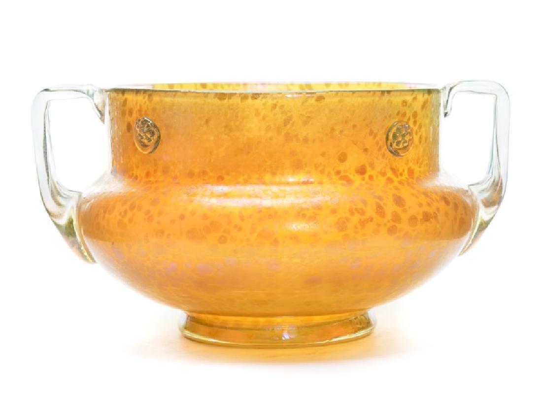 Iridized Art Glass Oil Spot Urn, Attr. to Loetz