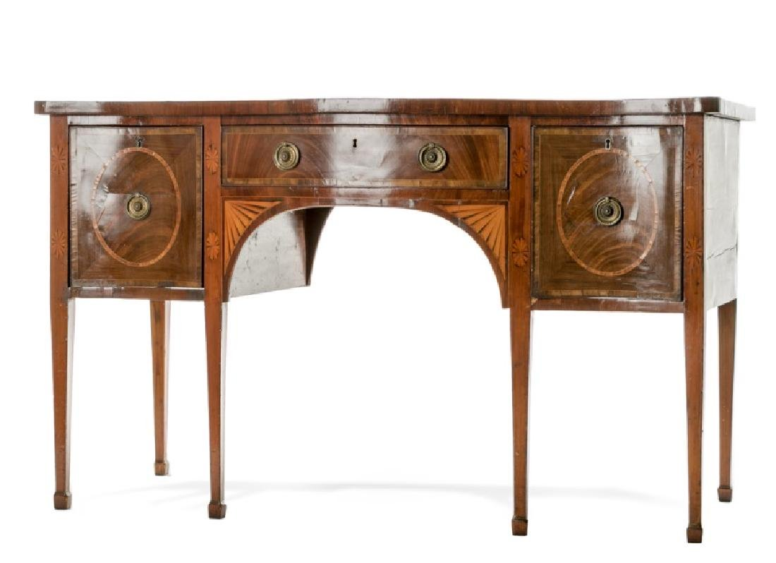 Early 19th C. English Mahogany Inlaid Sideboard