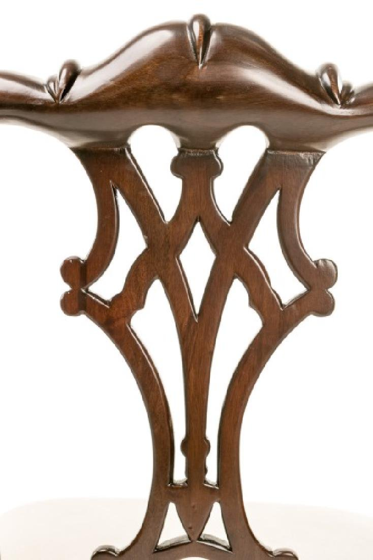 Set of Three Chippendale Style Bar Stools - 3