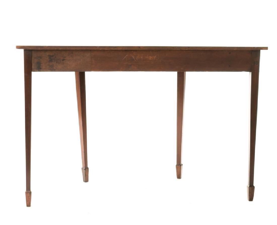 19th C. English Mahogany Demilune Table - 2