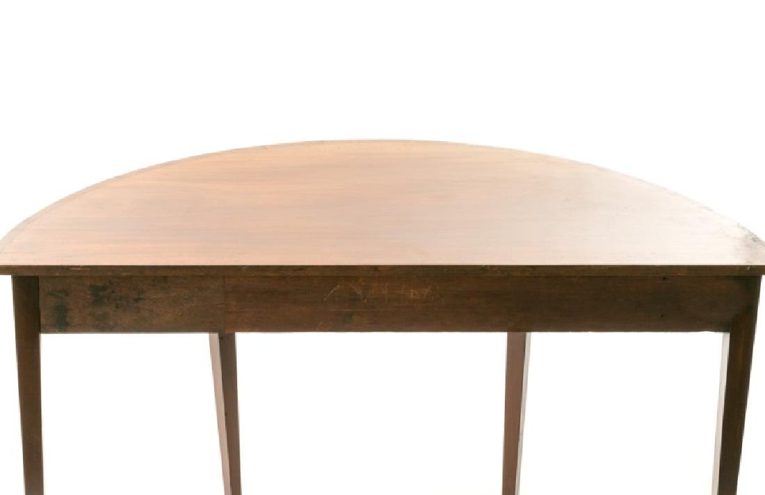 19th C. English Mahogany Demilune Table - 3