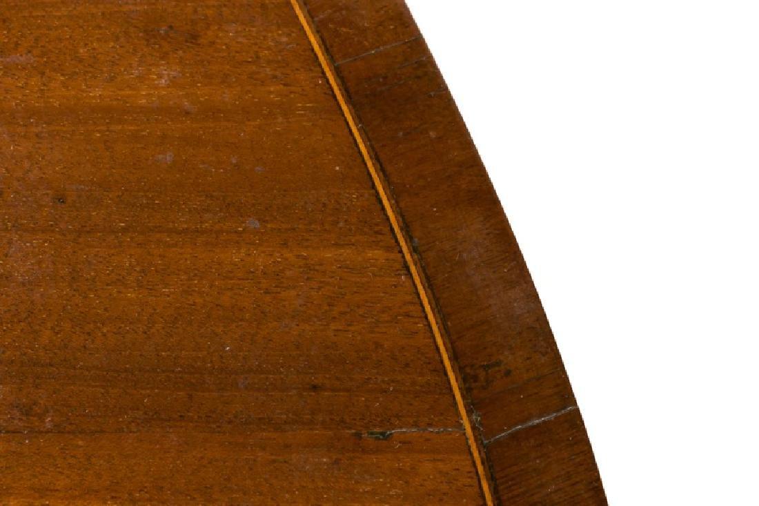19th C. English Mahogany Demilune Table - 4