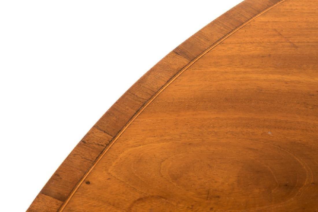 19th C. English Mahogany Demilune Table - 5