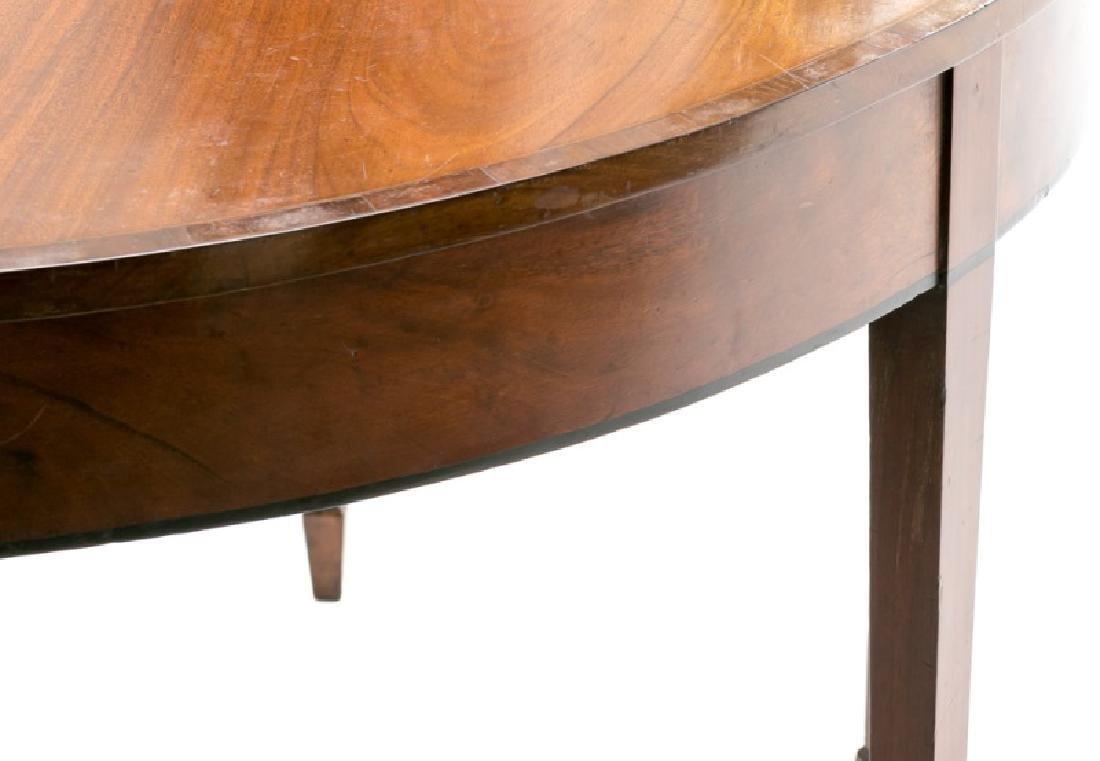 19th C. English Mahogany Demilune Table - 6
