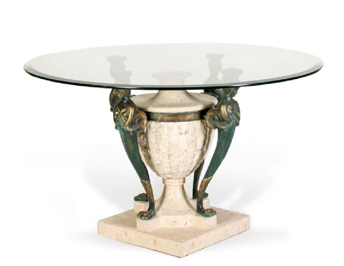Neoclassical Style Figural Breakfast Table
