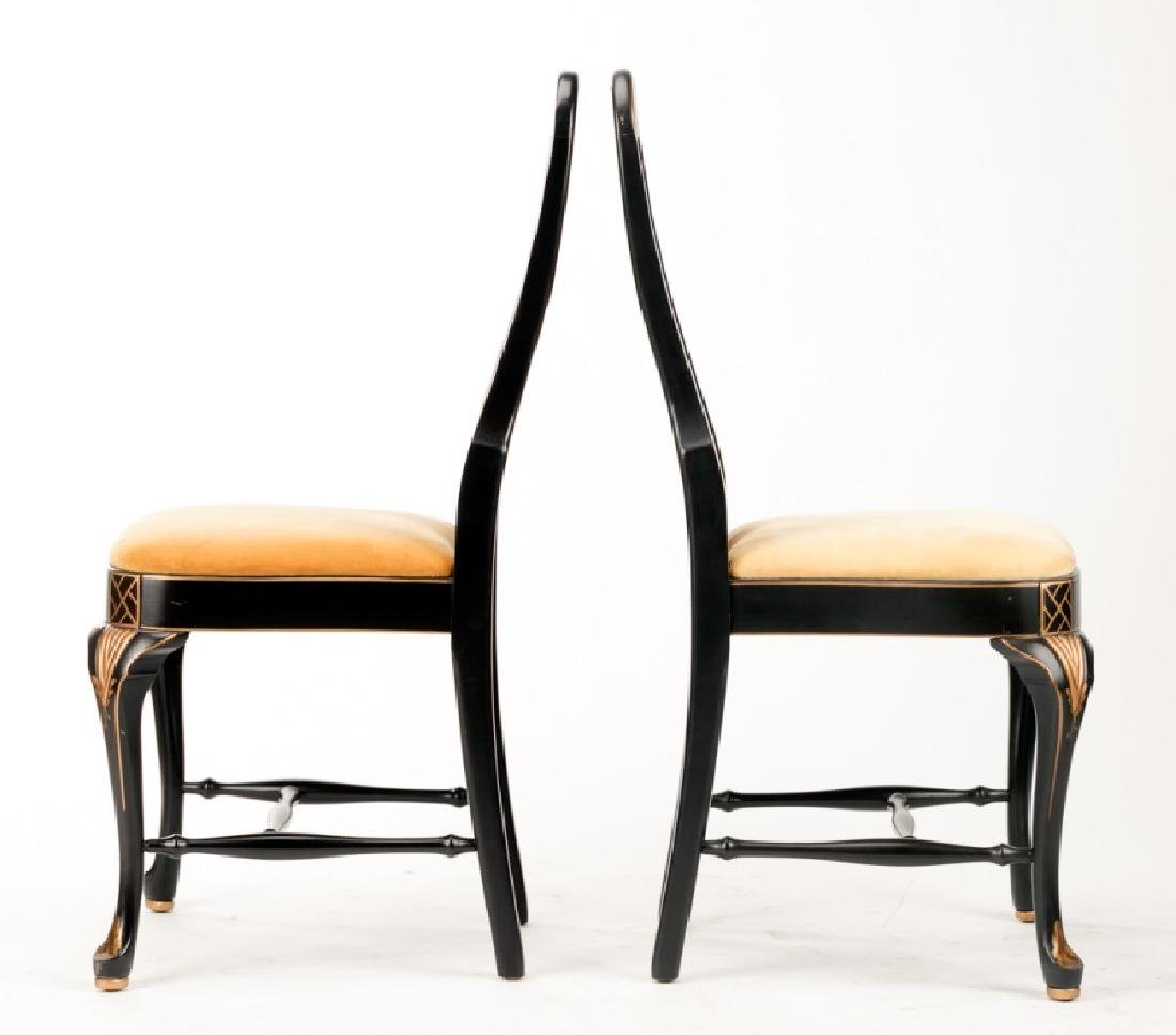 Pair of Queen Anne Style Chinoiserie Chairs - 2