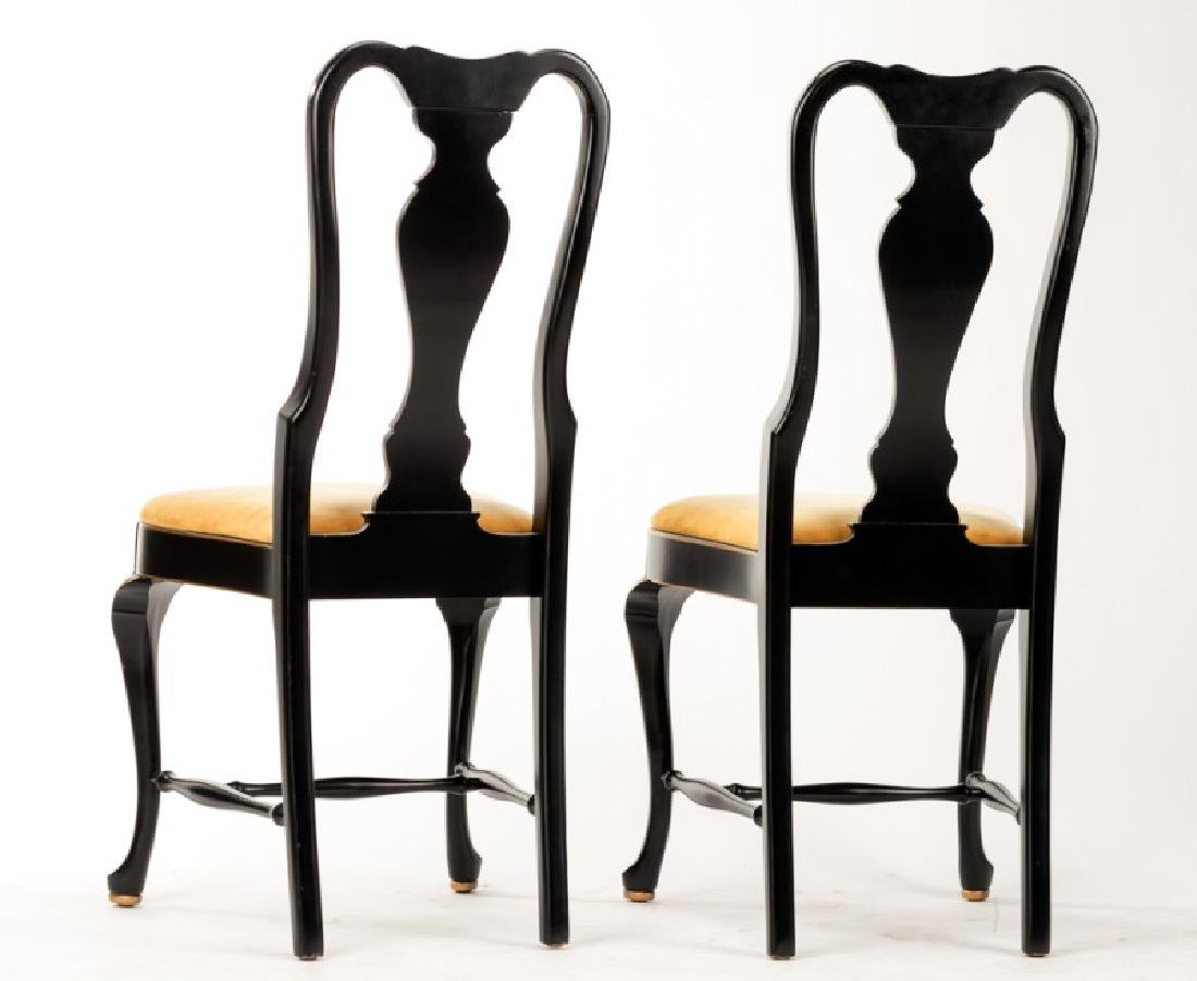 Pair of Queen Anne Style Chinoiserie Chairs - 3