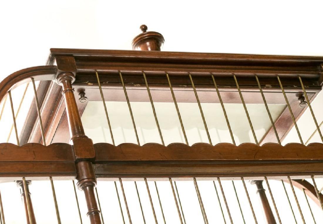 Carved Mahogany Illuminated Birdcage on Stand - 4