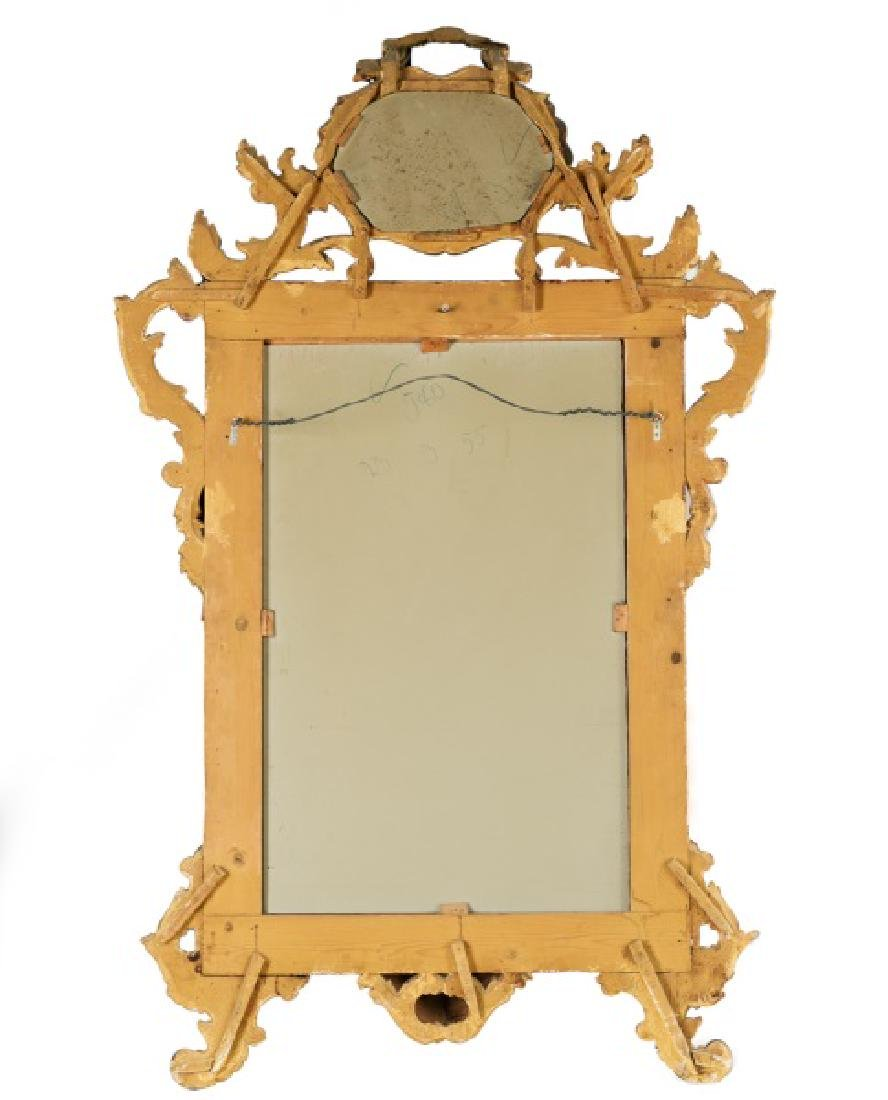 George III Chippendale Style Giltwood Wall Mirror - 2