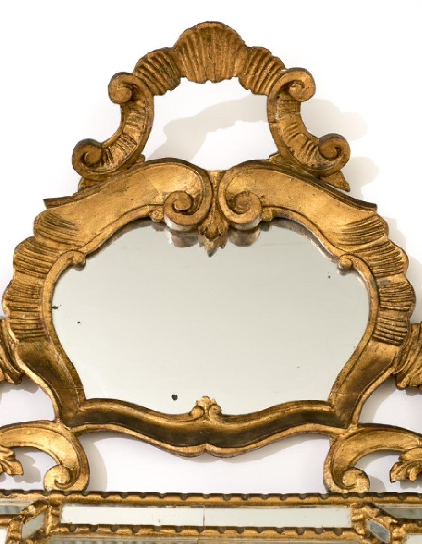 George III Chippendale Style Giltwood Wall Mirror - 3