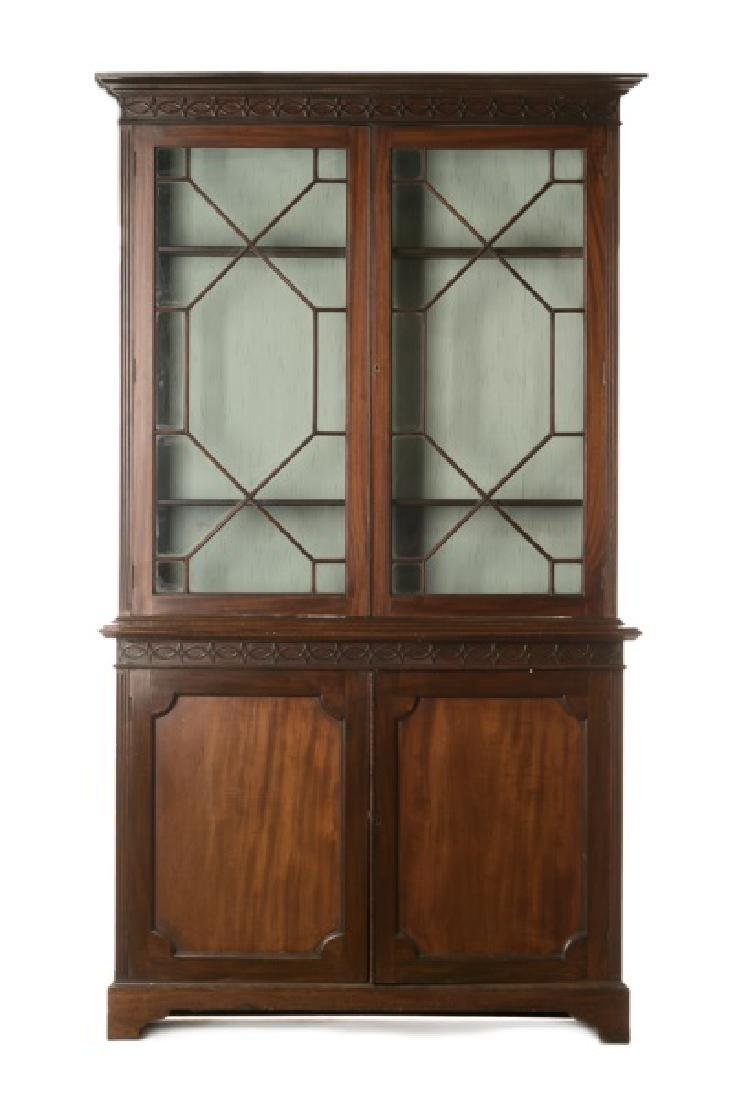 English Mahogany Chippendale Style China Cabinet