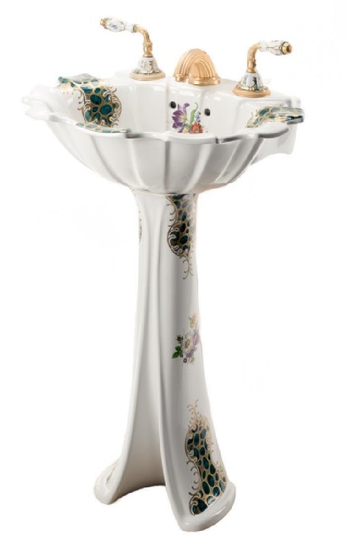 Sherle Wagner Porcelain Pedestal Sink