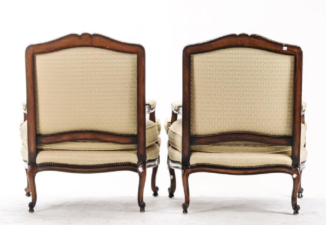 """Pair, E.J. Victor """"Montaigne"""" Bergere Chairs - 3"""