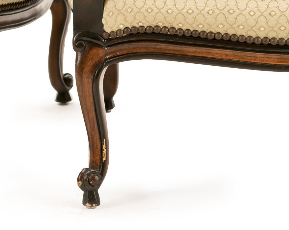 """Pair, E.J. Victor """"Montaigne"""" Bergere Chairs - 5"""